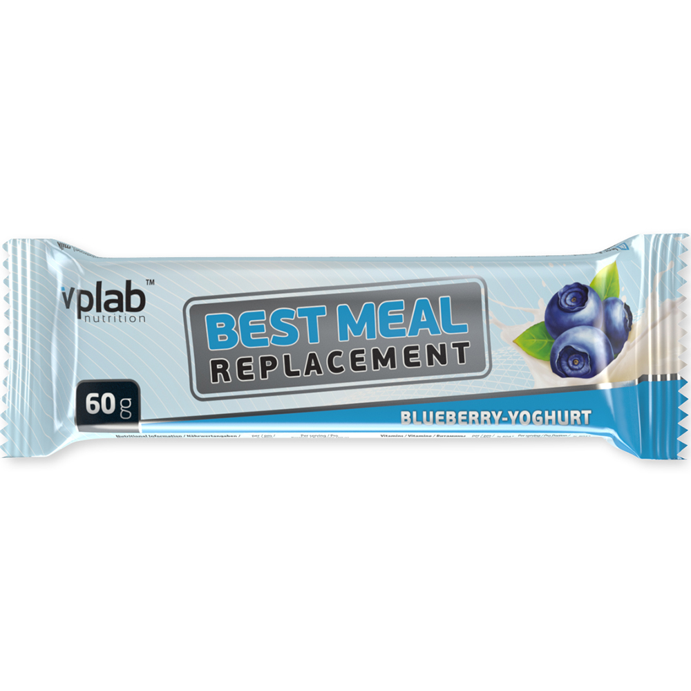 Батончик VPlab Best Meal Replacement 23% 60 g Голубика-йогурт