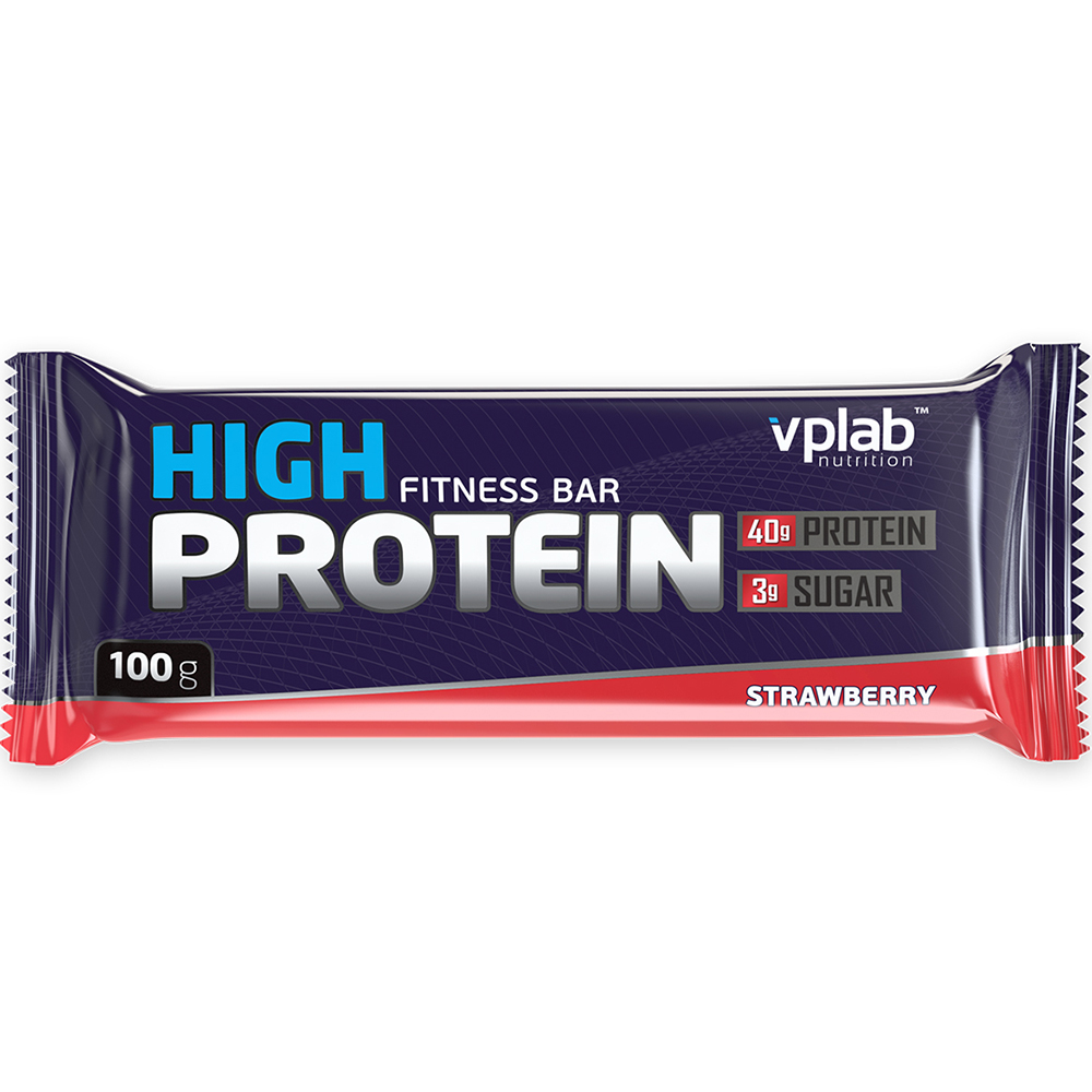 Батончик VPlab 40% High Protein 100 g Клубника